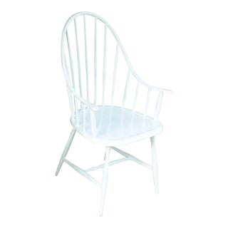 Windsor Outdoor Chair in White For Sale