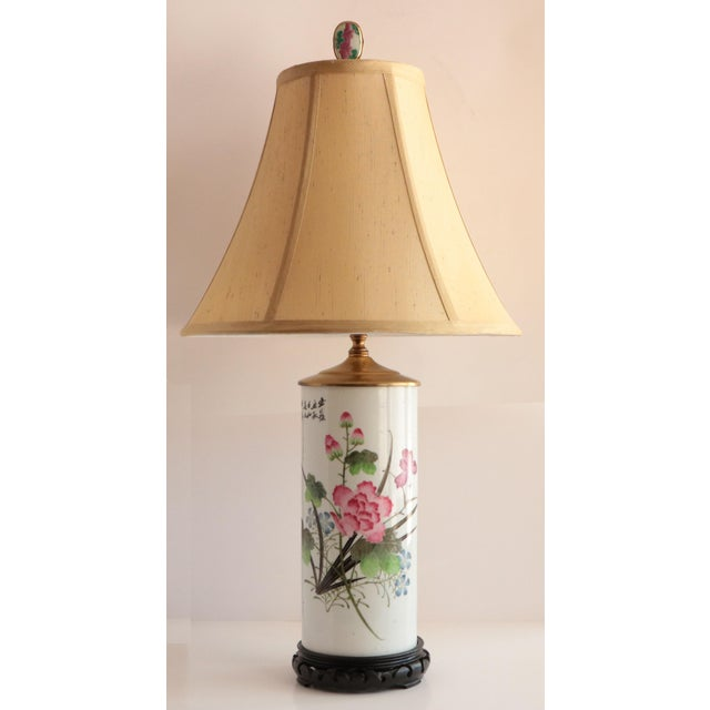 White Chinese Porcelain Hat Stand Table Lamp For Sale - Image 8 of 8