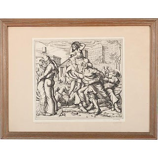 "1935 Paul Cadmus ""Shore Leave""-Original Ltd. Ed. Etching-1st Edition-Pencil Signed/Dated-Rare For Sale"