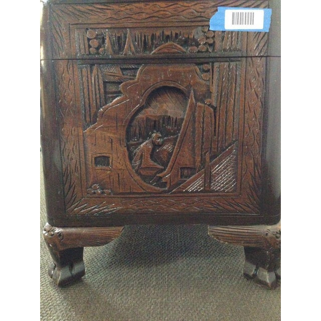 Chinese Carved Teak & Camphor Wood Chest - Image 9 of 11