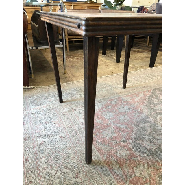 Vintage Mid Century Folding Card Table For Sale - Image 11 of 13