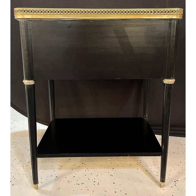 Pair of Hollywood Regency Nightstands or End Tables in the Manner of Jansen For Sale - Image 10 of 13