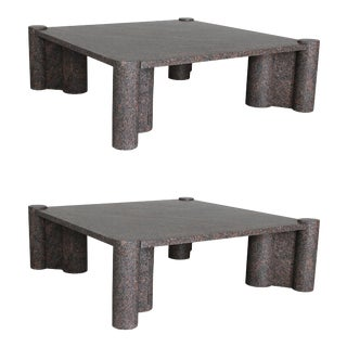 Early Gae Aulenti Jumbo Coffee Tables - a Pair For Sale