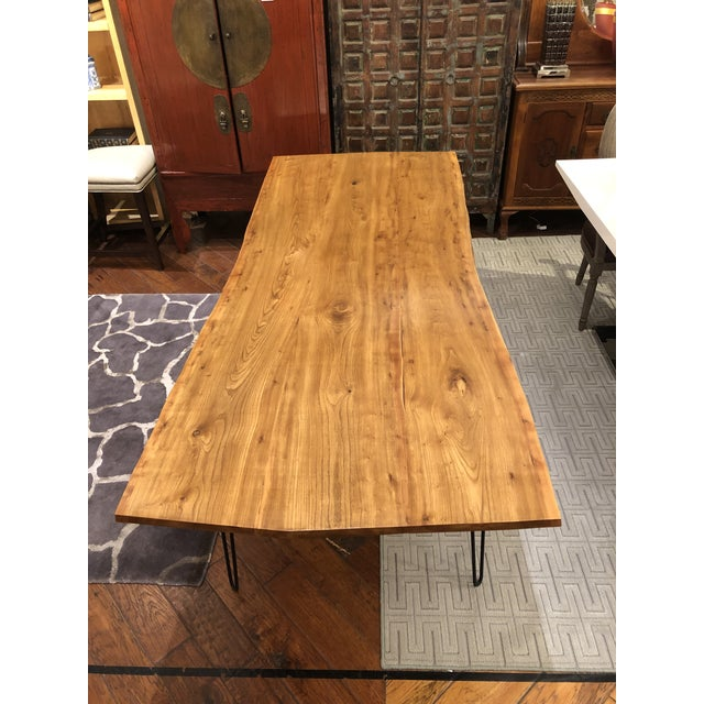 2010s Custom Live Edge Wood Table For Sale - Image 5 of 11