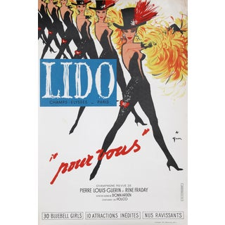 """""""Lido, Pour Vous"""" Lithograph Poster by Rene Gruau For Sale"""