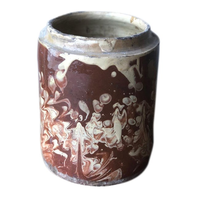 Antique Pugliese Marbleized Canister For Sale