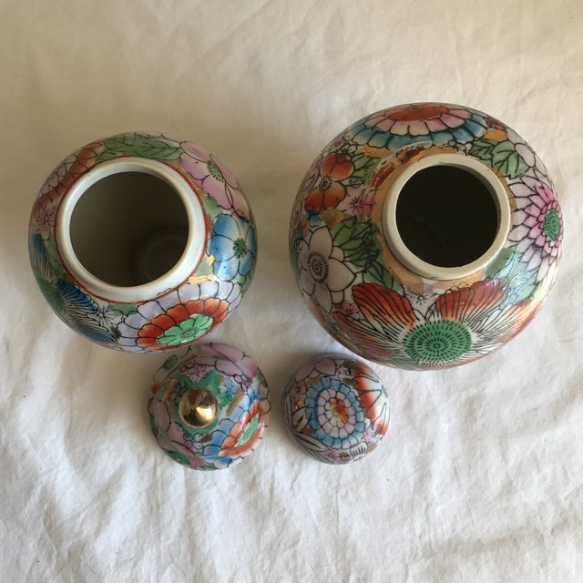 Chinoiserie Ceramic Ginger Jars - A Pair - Image 6 of 8