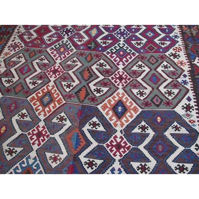 Antique Aksaray Kilim For Sale - Image 4 of 10