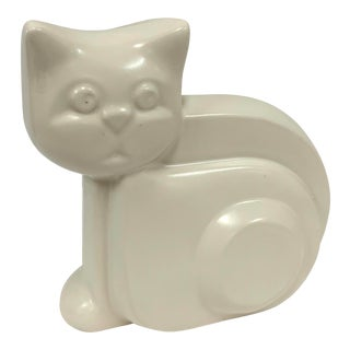 1970s Ceramic Abstract Cat Figure For Sale