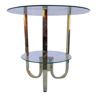 Art Deco Brass and Glass Size Table