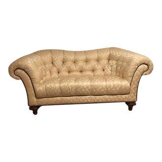 Cream Silk Leaf Pattern Sofa