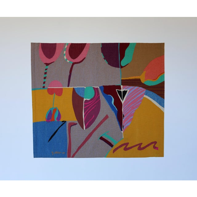 Contemporary Abstract Tapestry by Steve Zoller For Sale - Image 10 of 10