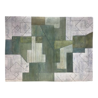 Abstract Oil Painting From the Ancient Modern Series by Stephen Cimini For Sale
