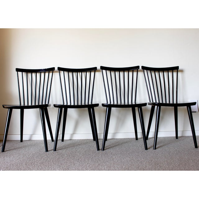 In the style of Farstrup and Tapiovaara, these Mid Century Swedish dining chairs are the ultimate design chameleons!...