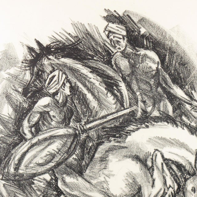 Adolf Uzarski Charcoal Drawing Lithograph For Sale In Atlanta - Image 6 of 11