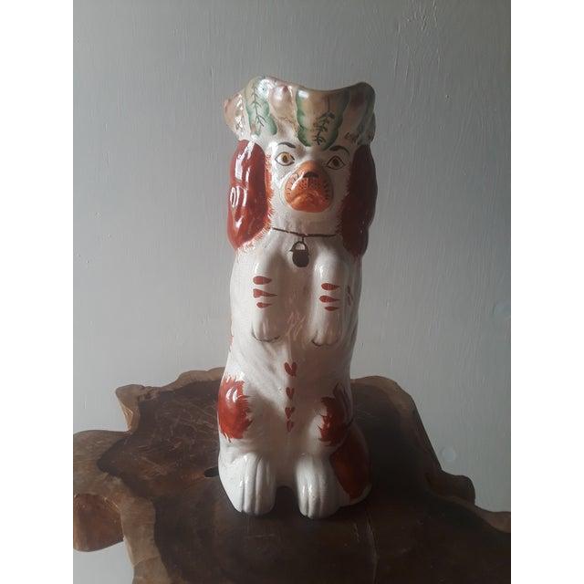 Ceramic Antique Staffordshire Cocker Spaniel Dog Ceramic Toby Jug For Sale - Image 7 of 7