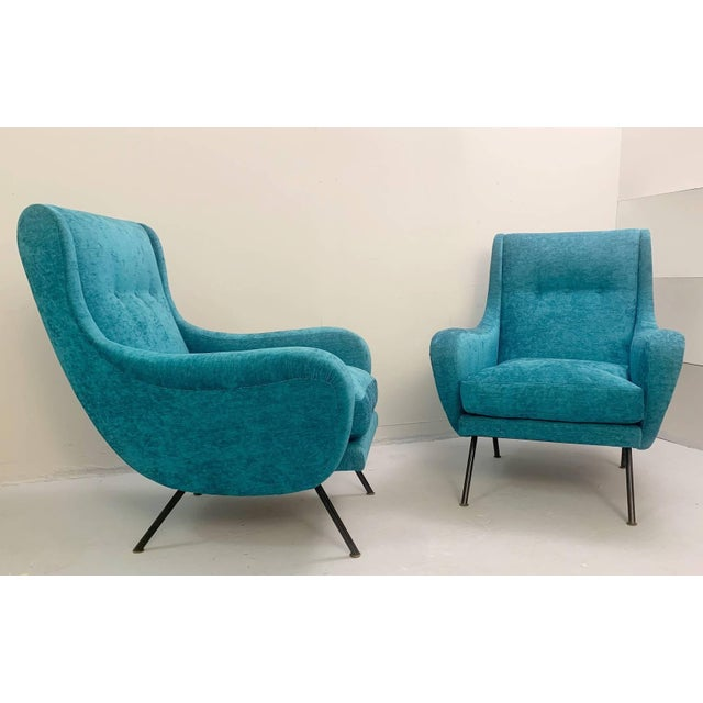 1950s Italian Armchairs- A Pair For Sale - Image 6 of 6
