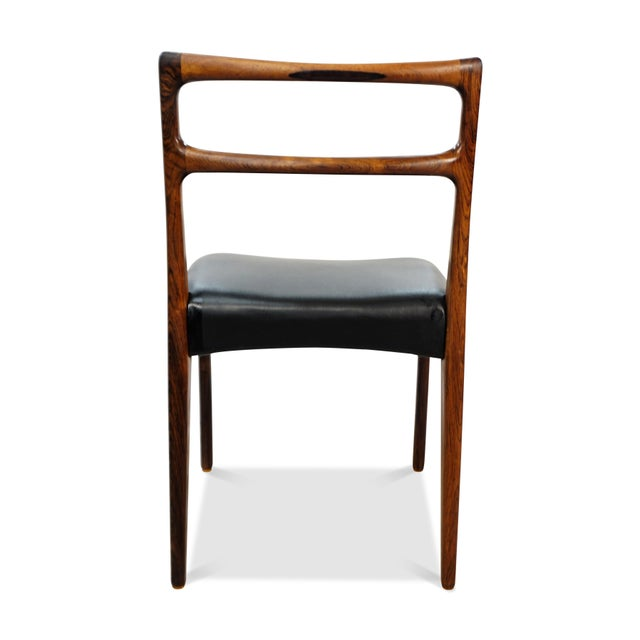 Original Danish Mid Century Johannes Andersen Rosewood Dining Chairs - Set of 4 For Sale In New York - Image 6 of 9