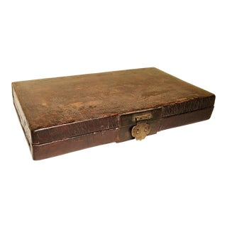 Mid of 19th Century Antique Chinese Leather Box For Sale