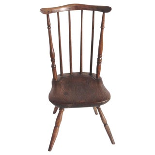 Early and Rare 19th Century Rare Child's Windsor Chair For Sale