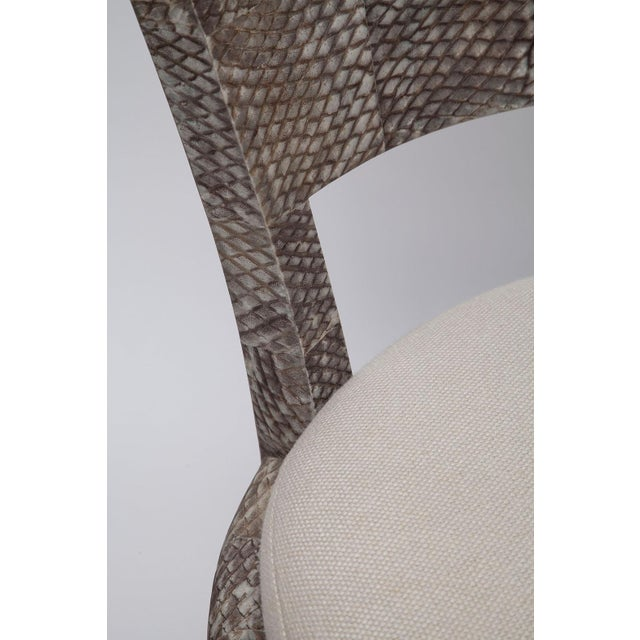 Textile Fishskin Covered Chairs - a Pair For Sale - Image 7 of 10