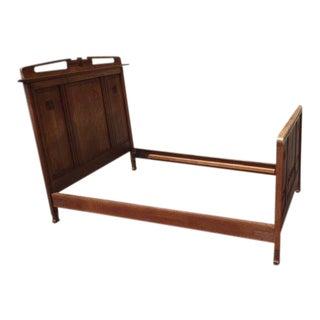 1920s Arts and Crafts Oak Bed Frame