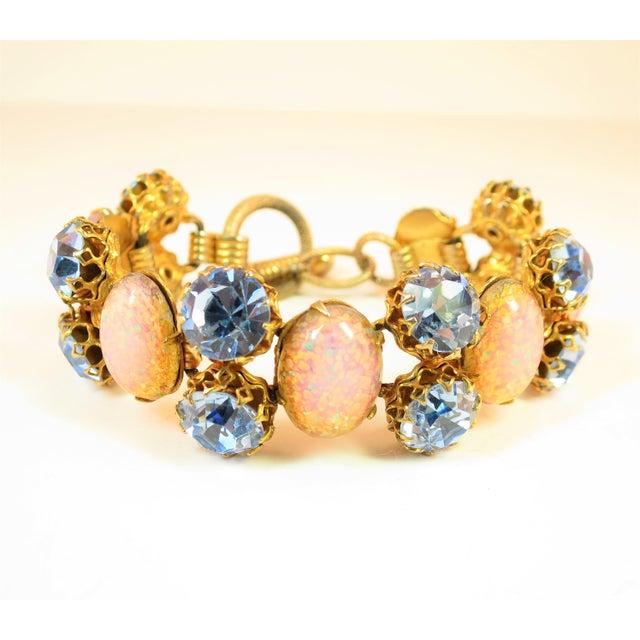 Schiaparelli Opal Art Glass Bracelet Suite 1950s For Sale In Los Angeles - Image 6 of 13