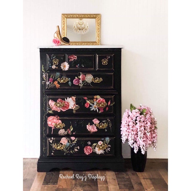 Add a touch of drama to your master suite or guest room. Its five drawers offer plenty of space for your wardrobe or spare...