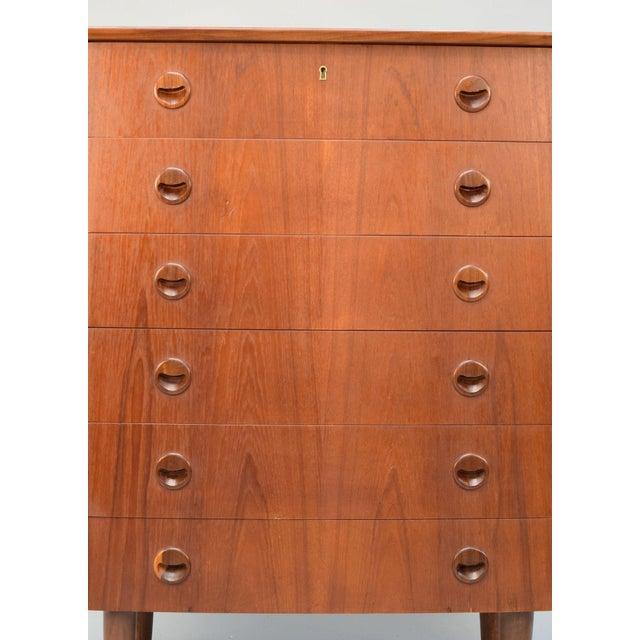 Kai Kristiansen Danish Teak Bow-Front Dresser - Image 6 of 11