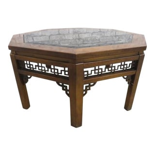 Vintage Asian Octagon Coffee Table For Sale