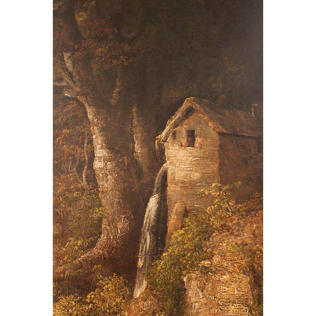 "19th Century ""Forest Mill"" Landscape Oil Painting on Canvas - Image 3 of 10"