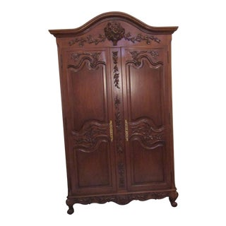 Carved Decorative Armoire