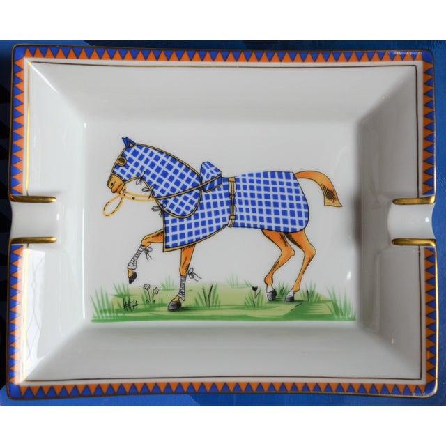 Ceramic 1970s Hermes Porcelain Equestrian Ashtray For Sale - Image 7 of 10