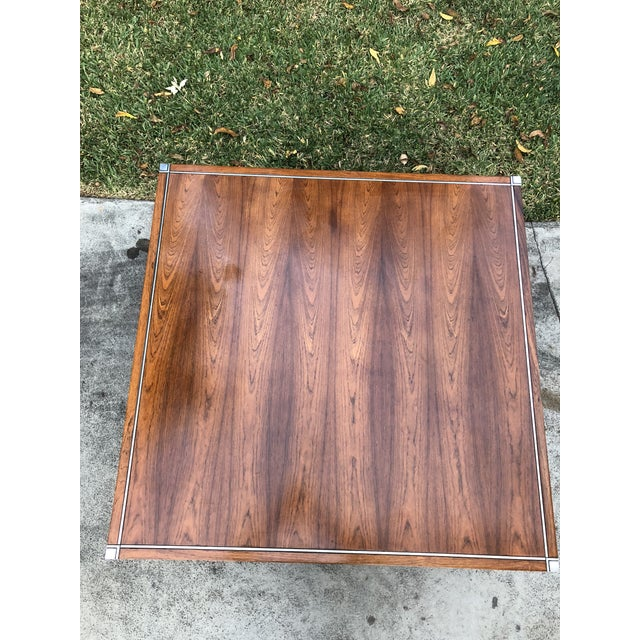 Knoll Rosewood & Chrome Coffee Table - Image 7 of 8