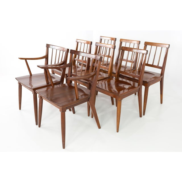 Mid-Century Modern Mid Century Paul McCobb Style Cherry Dining Chairs - Set of 8 For Sale - Image 3 of 13