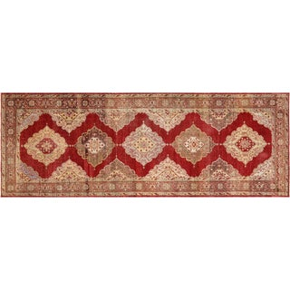 "Nalbandian - 1960s Turkish Oushak Carpet - 4'11"" X 13'3"" For Sale"