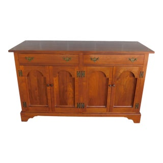 "Vintage Custom Black Walnut Buffet / Credenza Storage Cabinet 60""w For Sale"