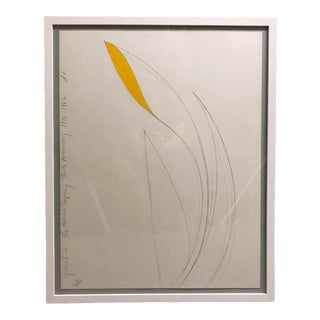 Donald Sultan Yellow Iris Lithograph 1982 For Sale