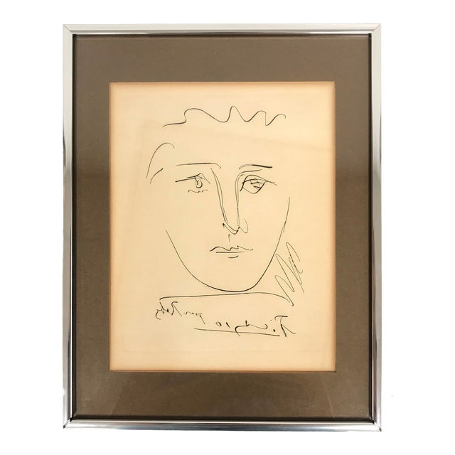 "1960s Vintage Pablo Picasso ""Pour Robie"" Signed Original Etching Print For Sale"