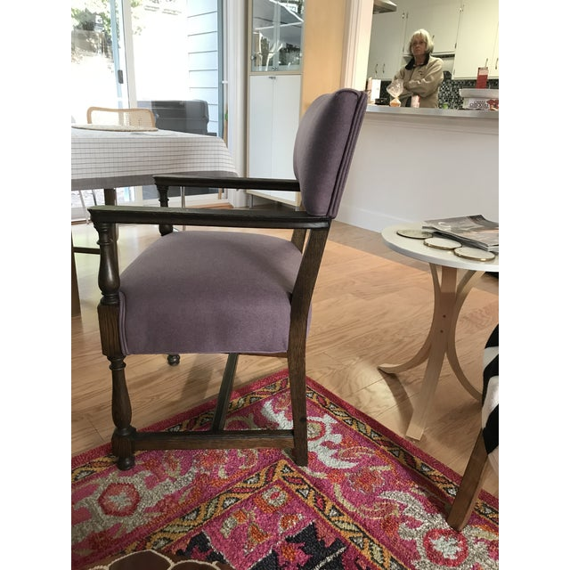 Vintage Early American William and Mary Style Plum Chair - Image 2 of 4