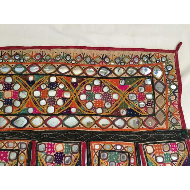 Indian Embroidered Mirror Valance For Sale In Los Angeles - Image 6 of 10