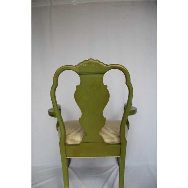 Italian 1920s Vintage Italian Venetian Hand Painted Fauteuil Arm Chair For Sale - Image 3 of 11