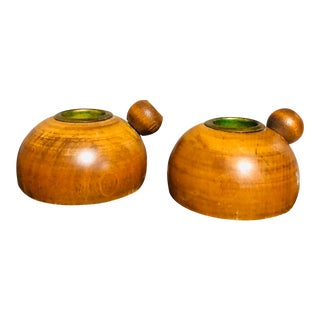 1960s Mid Century Modern Candle Holders - a Pair For Sale