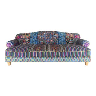 Vintage Custom Embroidered Sofa For Sale