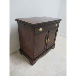 Thomasville Mahogany Flip Top Server Liqour Cabinet Bar Console Preview