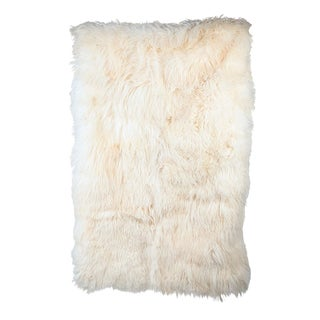 Ivory Mohair Carpet Throw For Sale