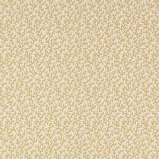 Sample - Schumacher Folly Wallpaper in Straw For Sale
