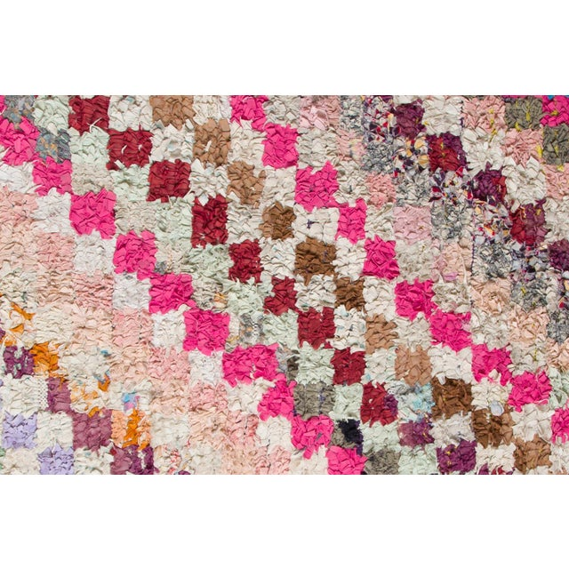 "Boho Chic Boucherouite Rug -- 3'4"" x 7'10"" For Sale - Image 3 of 3"