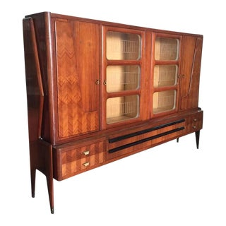 Paolo Buffa Italian Rosewood Veneered Bookcase For Sale