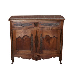 French Marble Top Buffet For Sale